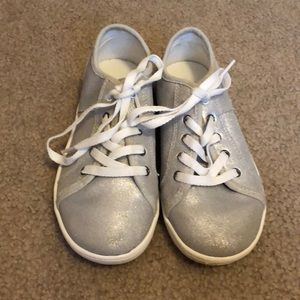 Girls Ugg Silver Sneakers-Size 2